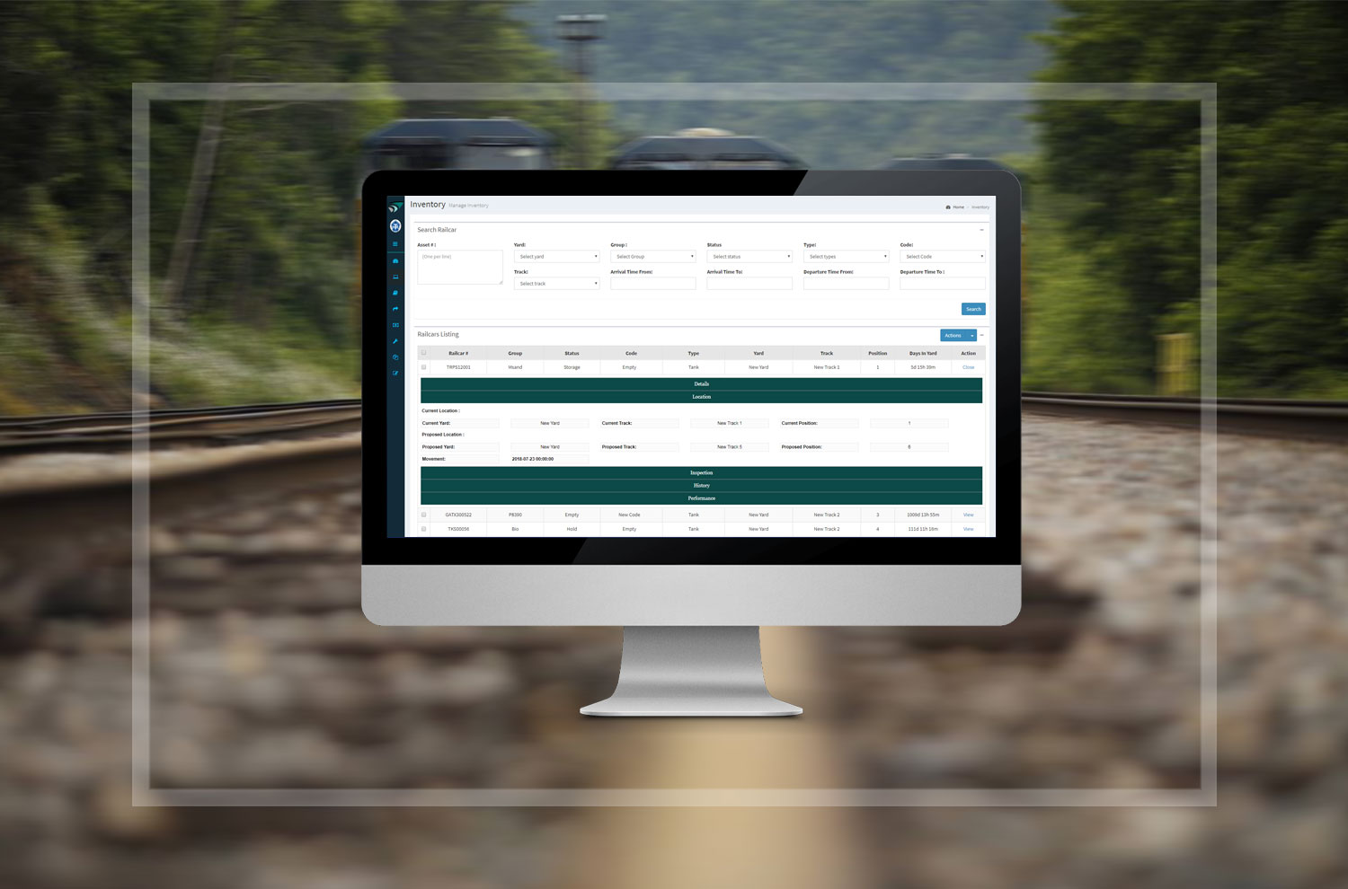 Program to search and report on railcars