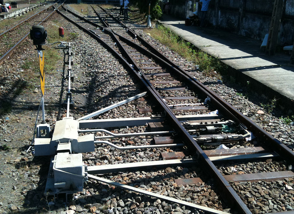 A switch on the railroad