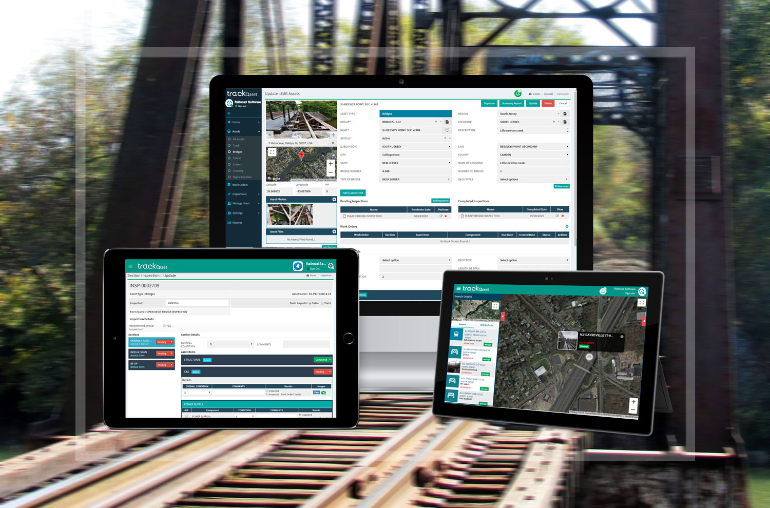 Railroad Bridge Inspection Software