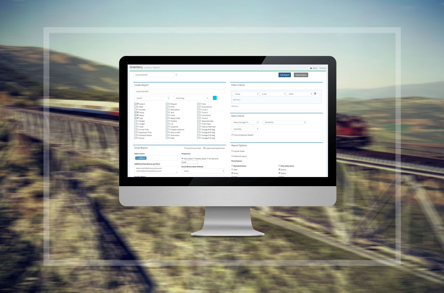 Railcar searches can be broken down by type, number, and others means to ensure no railcar is difficult to find within a facility